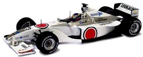 Coleção Lendas Brasileiras do Automobilismo Eaglemoss - BAR 002 Honda 2000 - 1/43