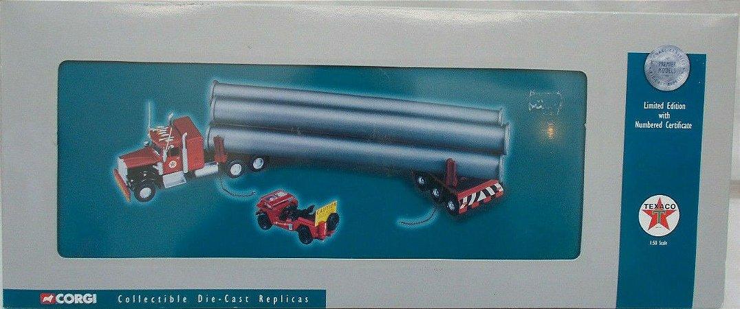 CORGI - Kenworth with Pipe Load TEXACO - 1/50