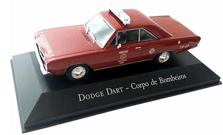 """Eaglemoss - Dodge Dart """"Corpo de Bombeiros de Santo André"""" 1974 - 1/43"""
