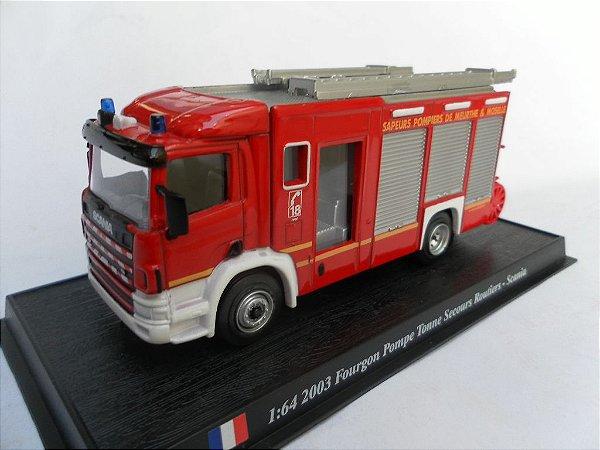 Ixo - Scania Fourgon Pompe Tonne Secours Rautiers 2003 - 1/64