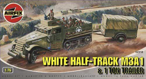 AirFix - White Half-Track M3A1 & 1 Ton Trailer - 1/76