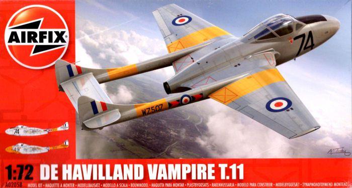 AirFix -  De Havilland Vampire T.11 - 1/72