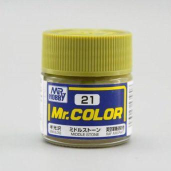 Gunze - Mr.Color 021 - Middle Stone Gray (Semi-Gloss)