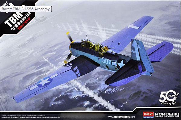 """Academy - TBM-3 """"USS Bunker Hill"""" - 1/48"""