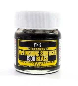GUNZE - MR. FINISHING SURFACER 1500 BLACK - PRIMER PRETO