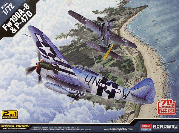 """Academy - Fw190A-8 & P-47D """"D-Day"""" - 1/72"""