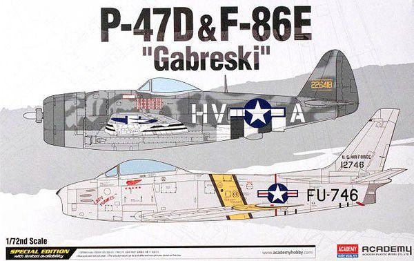 "Academy - P-47D & F-86E ""Gabreski"" - 1/72"