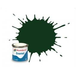 HUMBROL - ENAMEL 195 - DARK GREEN - SATIN