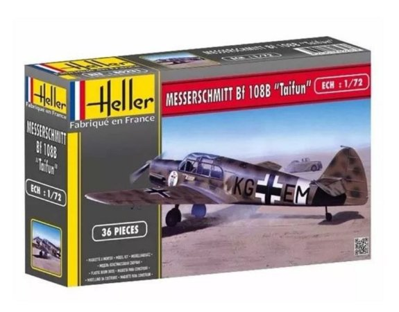 """HELLER - MESSERSCHMITT Bf 108 B """"TAIFUN"""" - 1/72"""