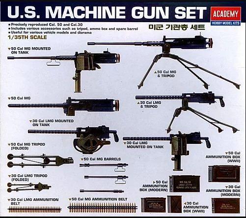 Academy - U.S. Machine Gun Set - 1/35