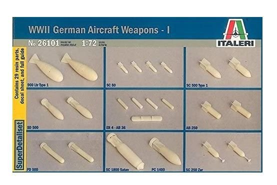 ITALERI - WWII GERMAN AIRCRAFT WEAPONS 1 - 1/72