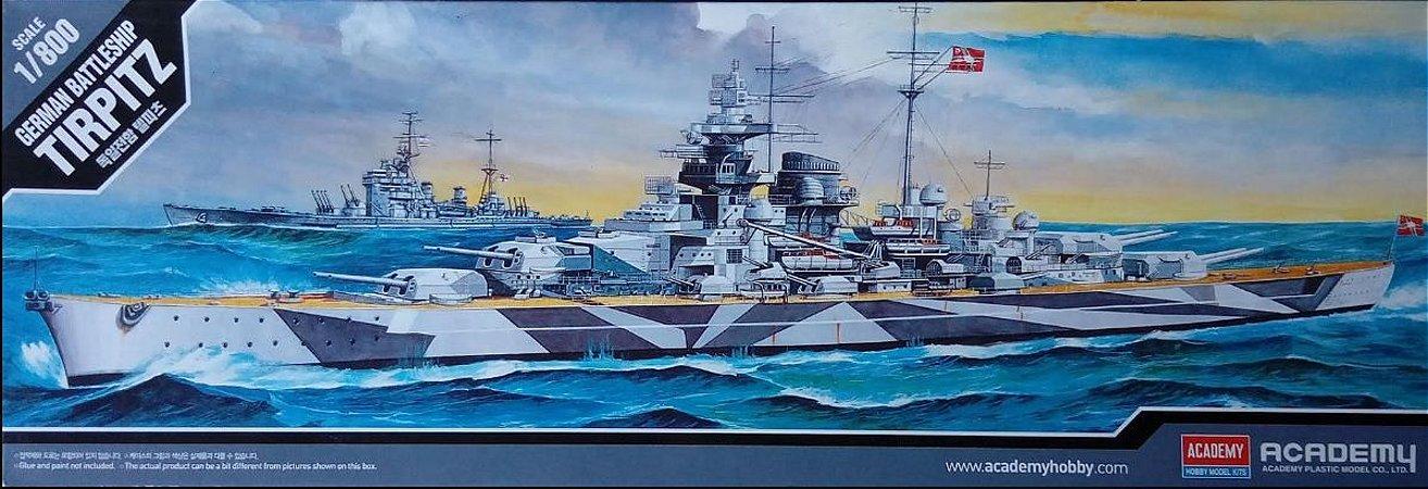 Academy - German Battleship Tirpitz - 1/800