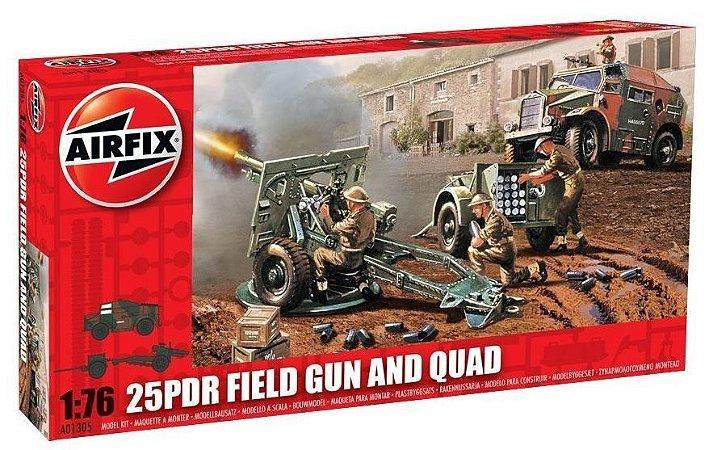 AIRFIX - 25PDR FIELD GUN & QUAD - 1/76