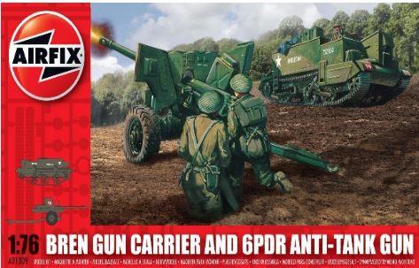 Airfix - Bren Gun Carrier and 6PDR Anti-Tank Gun - 1/76