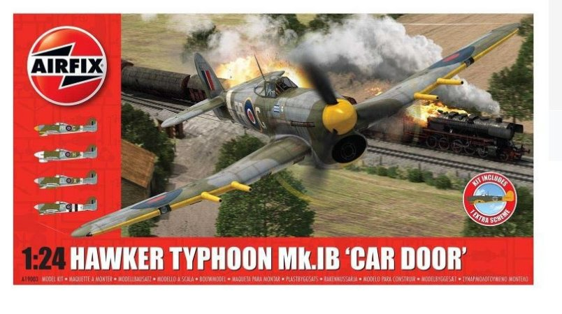 AIRFIX - HAWKER TYPHOON 1B CAR DOOR - 1/24