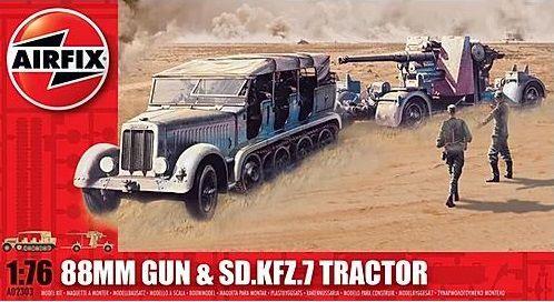 AIRFIX - 88MM GUN & TRACTOR SD.KFZ.7 - 1/76