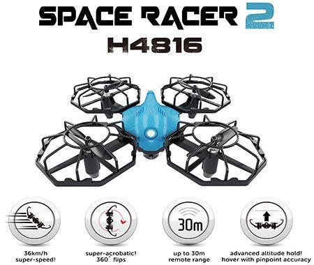 DRONE - Space Racer 2 - Quadricóptero de 4 canais 2.4 GHz com função trava de altitude - NOVIDADE!