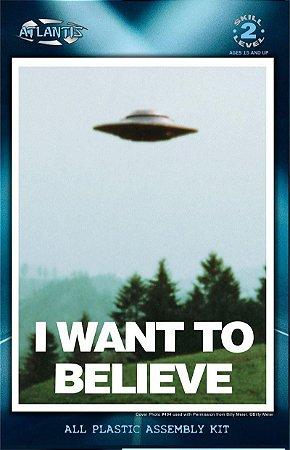 Disco voador I Want to Believe - Foto 494 UFO Billy Meier - Com luzes - 5 polegadas
