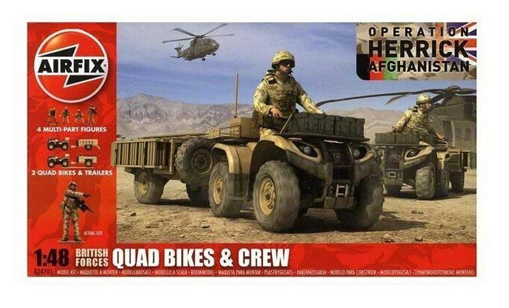 AIRFIX - BRITISH FORCES QUAD BIKES/CREW - 1/48