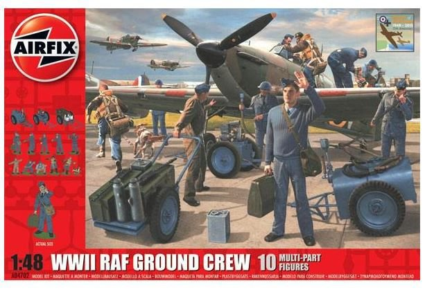 AIRFIX - - WWII RAF GROUND CREW - 1/48