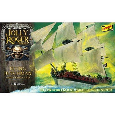 LINDBERG - Jolly Roger Series - Flying Dutchman - Navio pirata fantasma - Brilha no escuro - 1/130 - NOVIDADE!