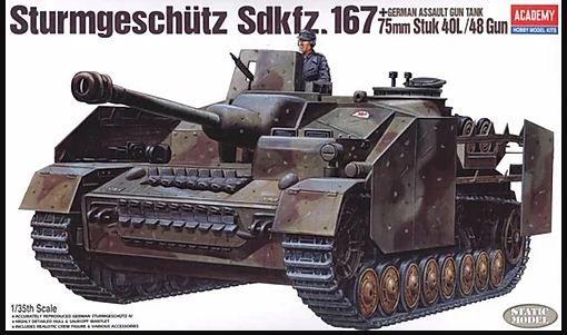 Academy - German Assault Gun Tank Sturmgeschütz Sdkfz. 167 75mm Stuk 40L/ 48 Gun - 1/35