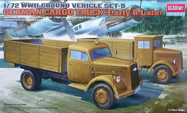 Academy - German Cargo Truck (Early & Late) - 1/72