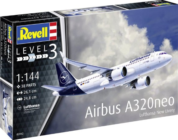 REVELL - Airbus A320 Neo Lufthansa New Livery - 1/144