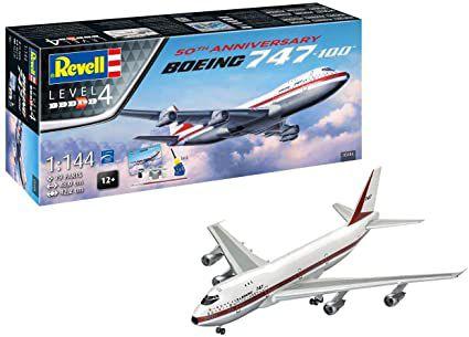 REVELL - Gift Set Boeing 747-100 - 50o. Aniversário - 1/144 - NOVIDADE!
