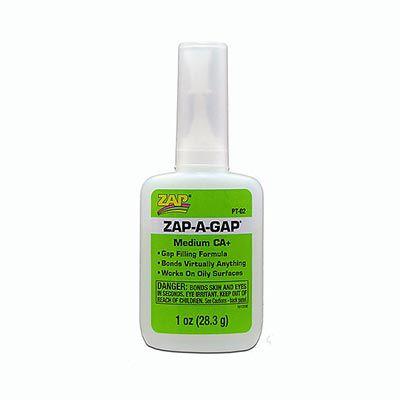 ZAP - Cola de cianoacrilato 1 oz. (28,3 g) Zap-A-Gap CA+ - Média viscosidade