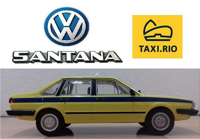 Coleção Veículos de Serviço - Volkswagen Santana (Taxi do Rio de Janeiro) - 1/43