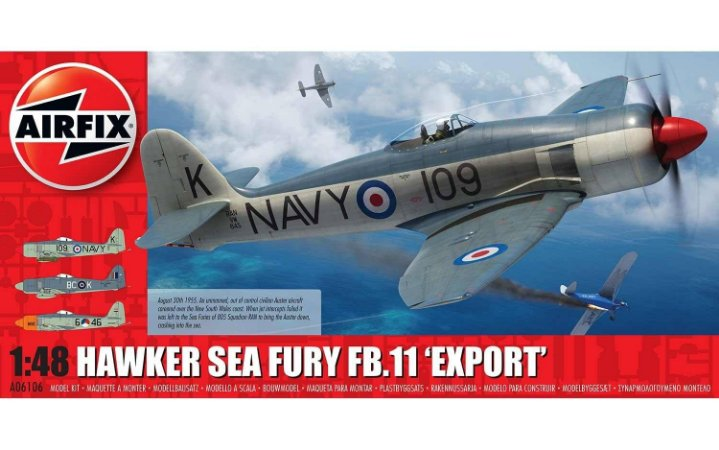 "AirFix - Hawker Sea Fury FB.11 ""Export""- 1/48"