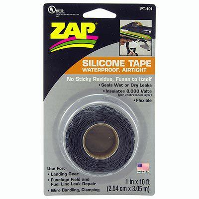 ZAP - 1 in x 10 ft (2,54cm x 3,05mt) roll Zap Silicone Tape, Black - NEW