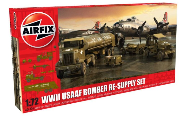 AIRFIX - WWii USAAF BOMBER RE-SUPPLY SET - 1/72