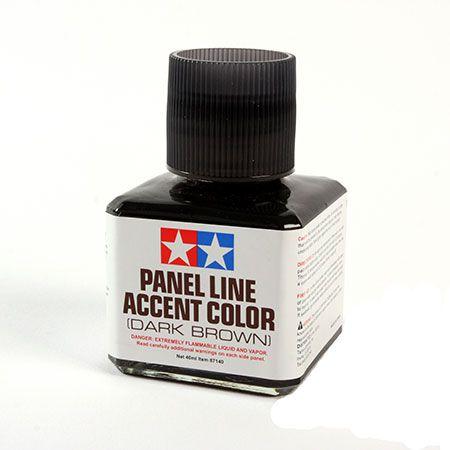 Tamiya - WASH Panel Line Accent Color Marrom escuro 40 ml