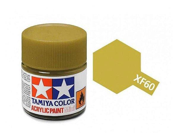 Tinta Tamiya para plastimodelismo - Acrílica mini XF-60 Amarelo escuro - 10 ml - NOVIDADE!