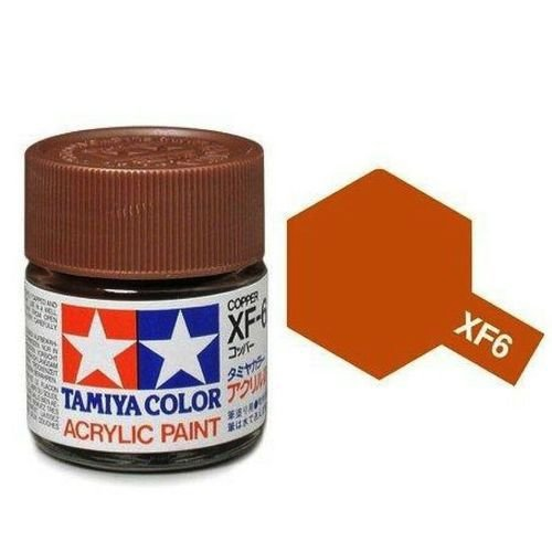 Tinta Tamiya para plastimodelismo - Acrílica mini XF-6 Cobre - 10 ml
