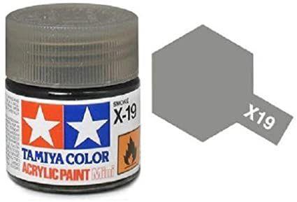 Tinta Tamiya para plastimodelismo - Acrílica mini X-19 Fumaça - 10ml - NOVIDADE!