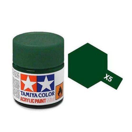 Tinta Tamiya para plastimodelismo - Acrílica mini X-5 Verde - 10ml - NOVIDADE!