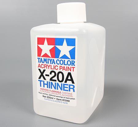 Solvente (thinner) para tinta Tamiya acrílica X-20A - 250 ml - NOVIDADE!