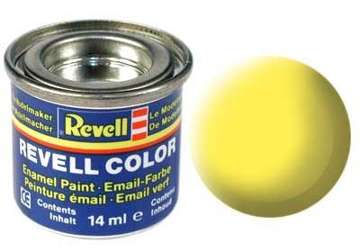 Tinta Revell para plastimodelismo - Esmalte sintético - Amarelo fosco - 14ml