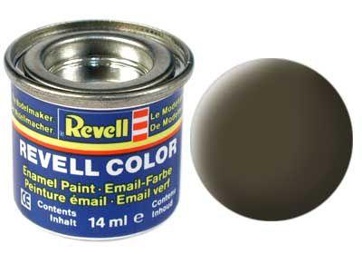Tinta Revell para plastimodelismo - Esmalte sintético - Preto esverdeado fosco - 14ml