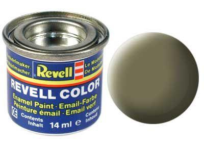 Tinta Revell para plastimodelismo - Esmalte sintético - Oliva claro fosco - 14ml