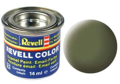 Tinta Revell para plastimodelismo - Esmalte sintético - Verde escuro RAF - 14ml