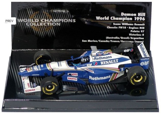 MInichamps - Williams FW 18 Renault F1 1996 - 1/43
