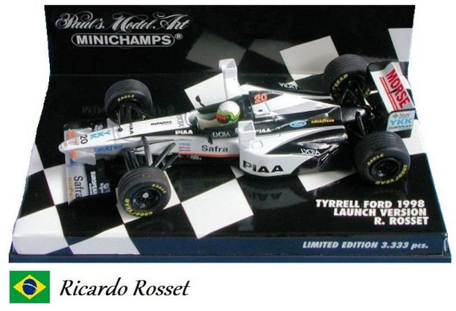 Minichamps - Tyrrell 026 Ford F1 1998 (Launch Version) - 1/43
