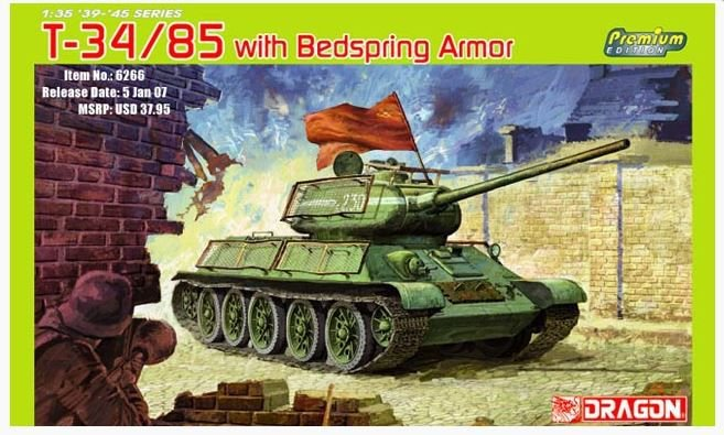 DRAGON - T34/85 WITH BEDSPRING ARMOR - 1/35