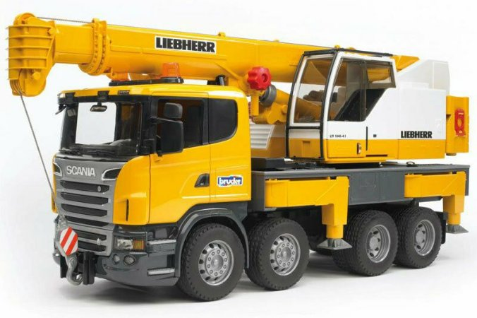 Bruder - Caminhão Scania R Series com Guindaste Liebherr - 1/16
