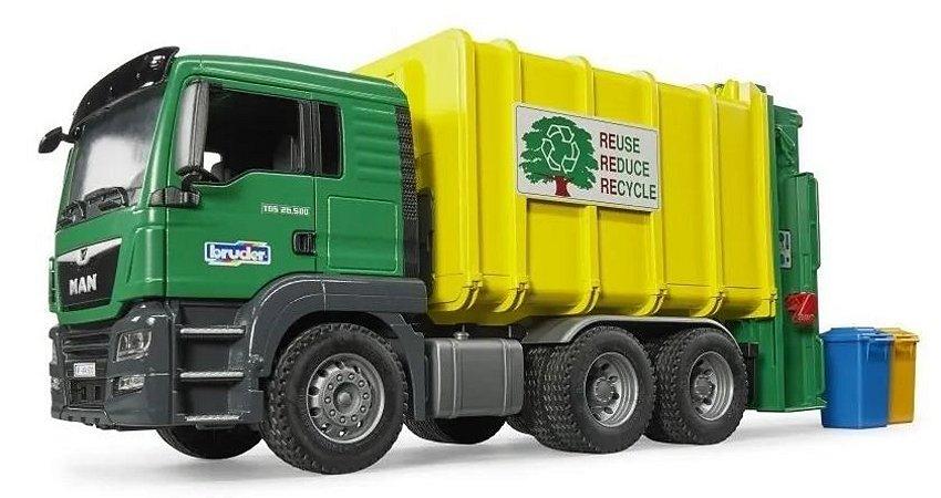 Bruder - Caminhão de Lixo Reciclável MAN TGS - 1/16
