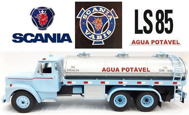 Ixo - Caminhão Scania Vabis LS85 1970 - Água Potável RR Arealva - 1/43